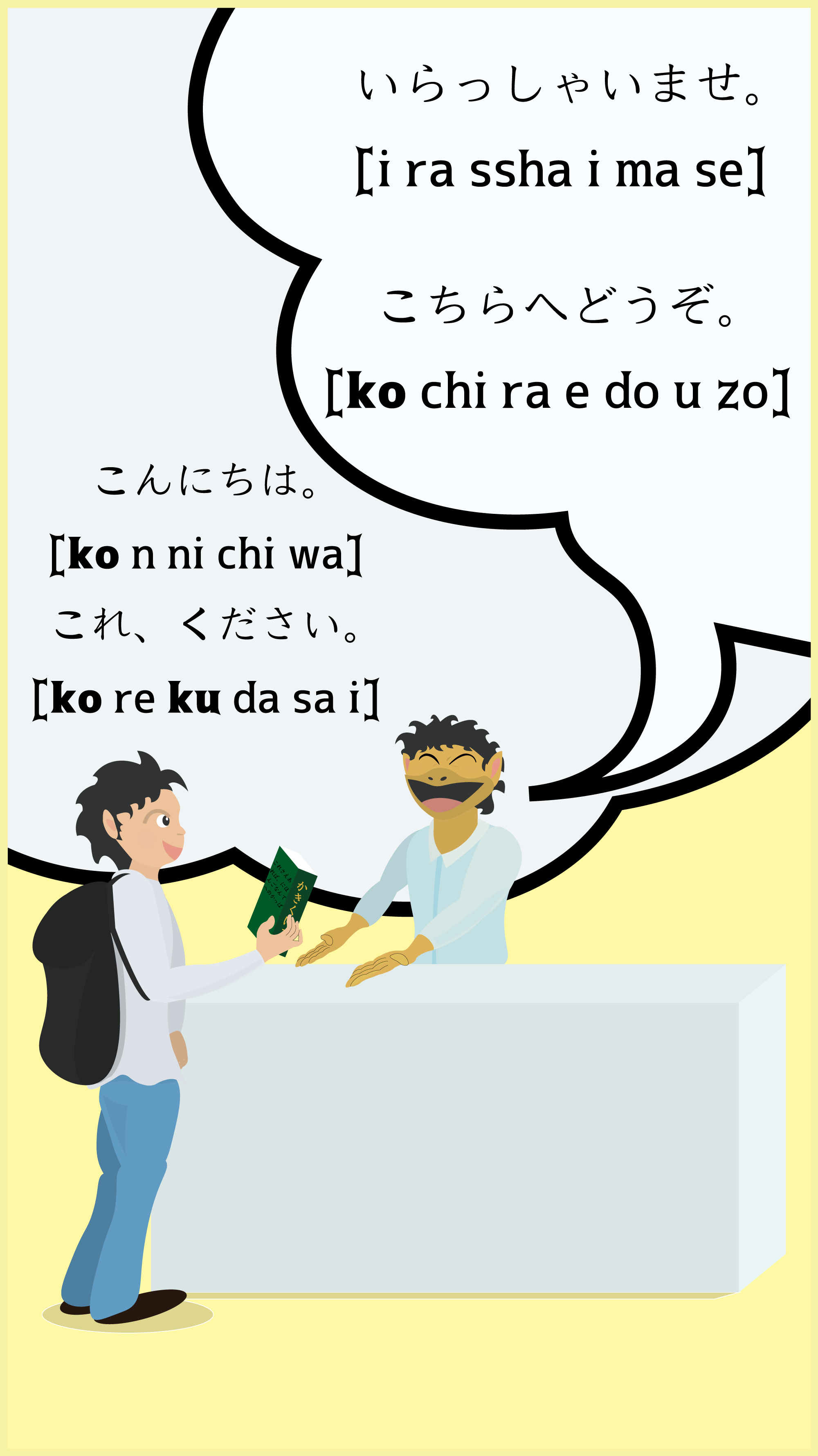 The top image for this article, which title is 'Say 'Ko n ni chi wa'! It's Time to Learn 'Ka Ki Ku Ke Ko'.' in mobile.